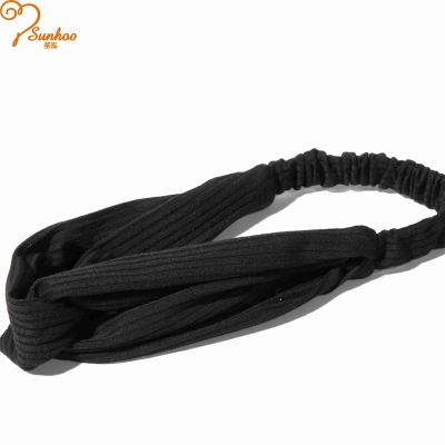Black women hair bands with crystal H-0026